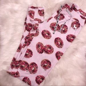 PINK VS PINK DONUT JOGGER KNIT LOUNGE SLEEP PANTS